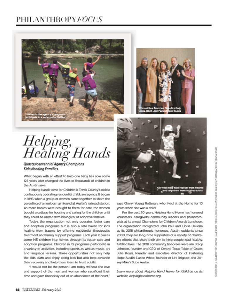 February 2019 – HHH Featured in Waterways Magazine